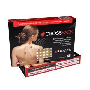 Набор кросс тейпов BB CROSS PACK (3 размера в упаковке) бежевый