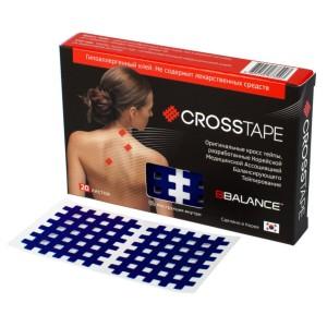 Кросс тейпы BB CROSS TAPE 4,9 см x 5,2 см (размер С) синий