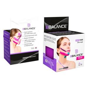 Тейп для лица BB FACE TAPE 5 см × 5 м шелк фиолетовый