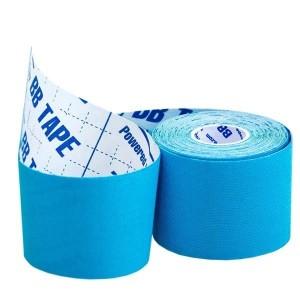 Кинезио тейп BBTape ICE 5см × 5м голубой