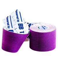 Кинезио тейп BBTape ICE 5см × 5м фиолетовый